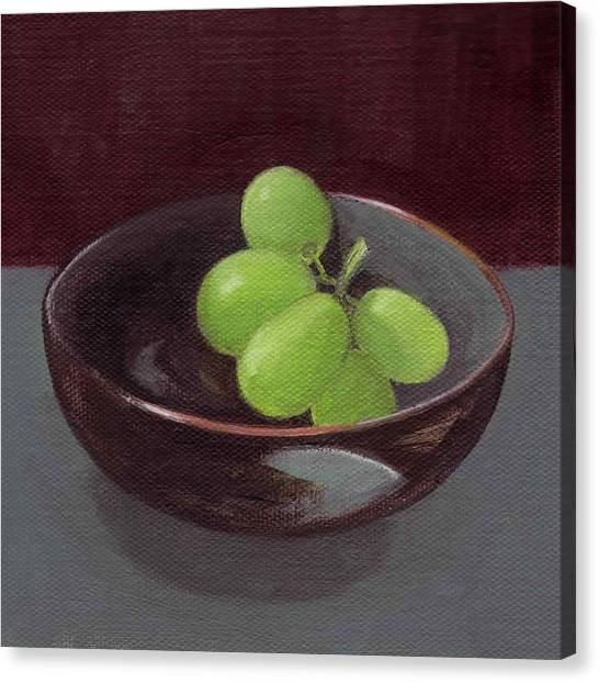 Green Grapes Canvas Print