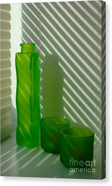 Green Green Glass Canvas Print
