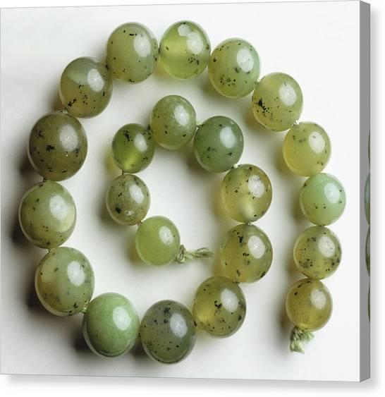 Gemstones Canvas Print - Green Grossular (garnet) by Dorling Kindersley/uig