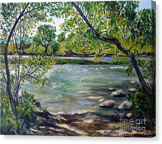 Green Hill Park On The Roanoke River Canvas Print