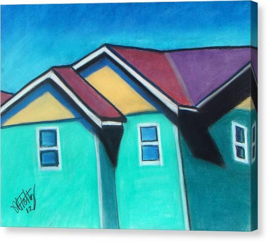 Green Homes Canvas Print