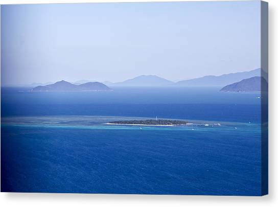 Green Island With Fitzroy Island In The Back Ground Canvas Print