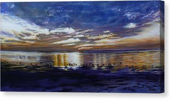 Green Key Sunset Canvas Print