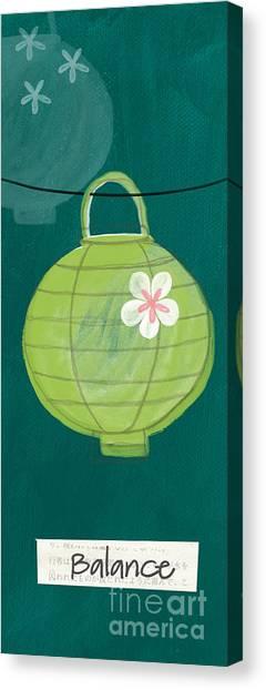 Yoga Canvas Print - Green Lantern  by Linda Woods