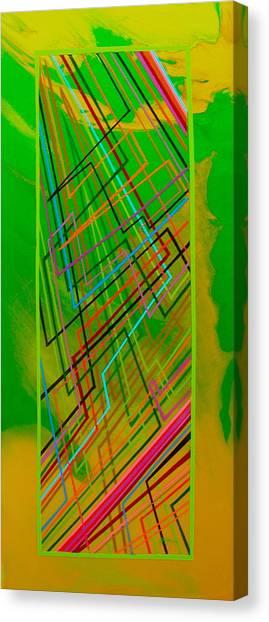 Green Lightning Canvas Print