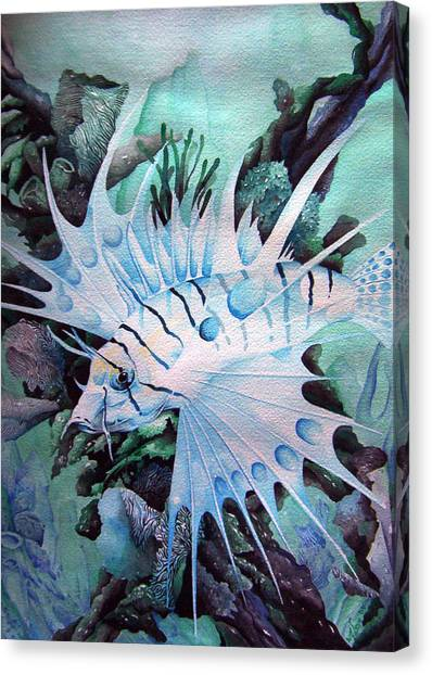 Green Lionfish Canvas Print