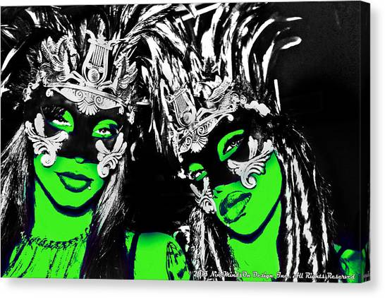 Green Mask  Canvas Print by Ley Clarie Gray