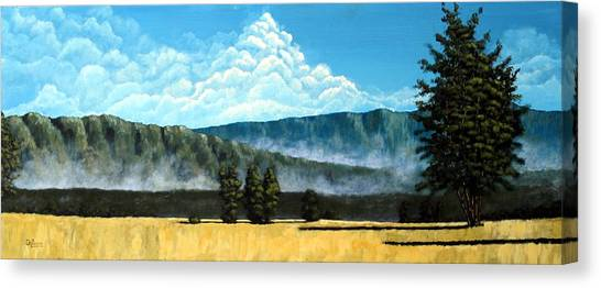 Green Mist Canvas Print