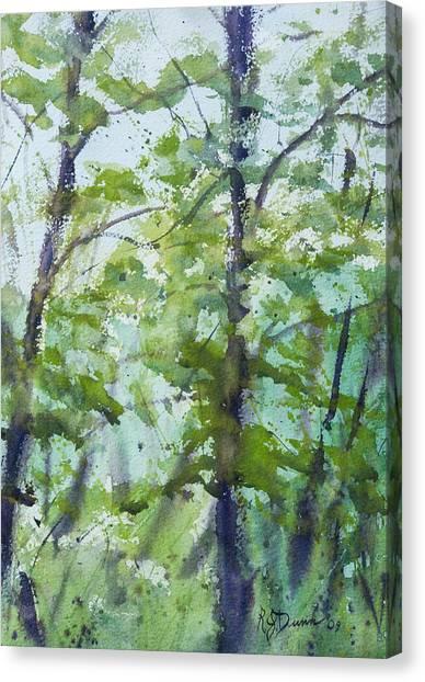 Green Morning 2 Canvas Print