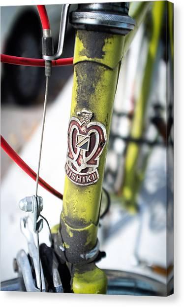 Green Nishiki Bicycle Canvas Print by Tanya Harrison