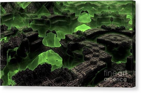 Green Odyssey Canvas Print by Bernard MICHEL