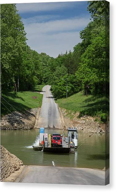 Mammoth Cave Canvas Print - Green River Car Ferry by Jim West