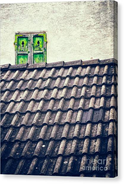 Green Shutters Canvas Print