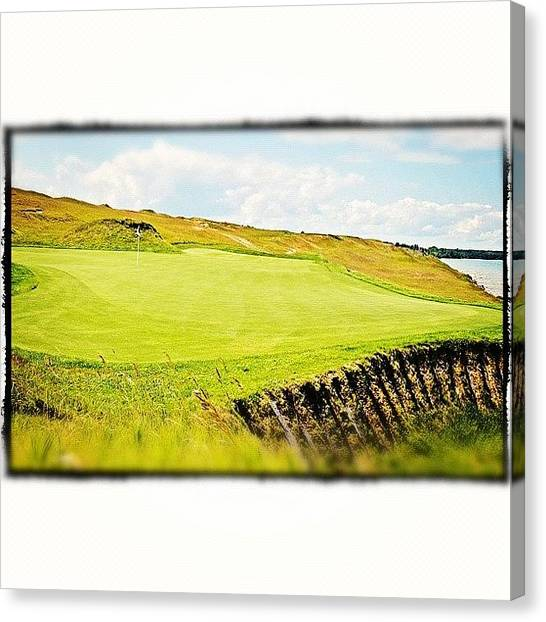 Sports Canvas Print - Green Side by Scott Pellegrin