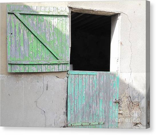 Green Stable Door Canvas Print