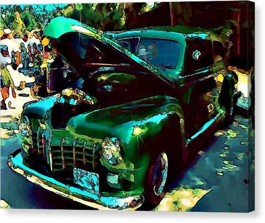 Green Street Machine Canvas Print