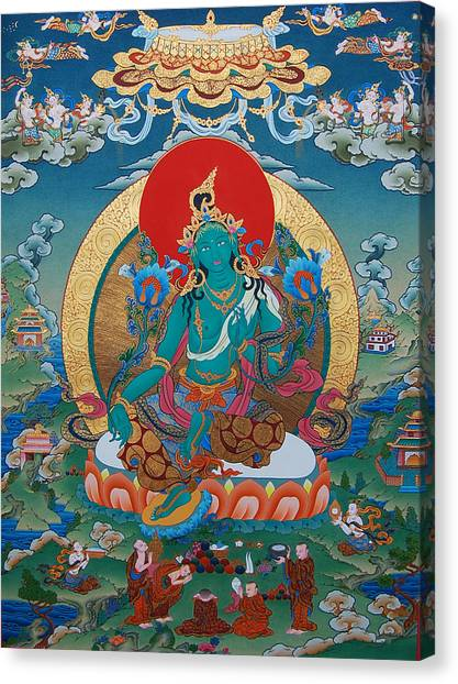Aspect Canvas Print - Green Tara by Images of Enlightenment