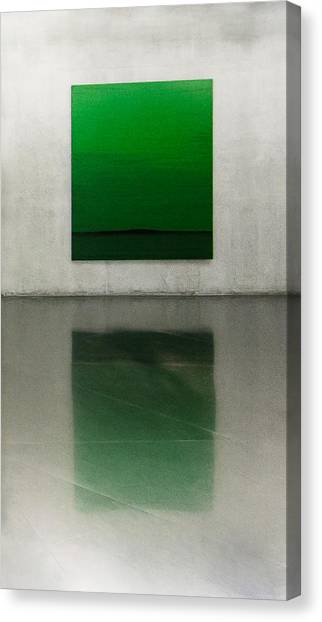 Museums Canvas Print - Green by Toni Guerra