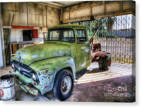 Green Tow Mater Canvas Print by Eddie Yerkish
