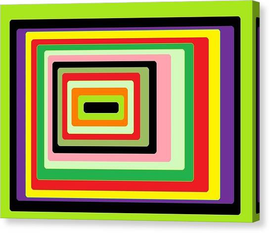 Green Vortex Canvas Print