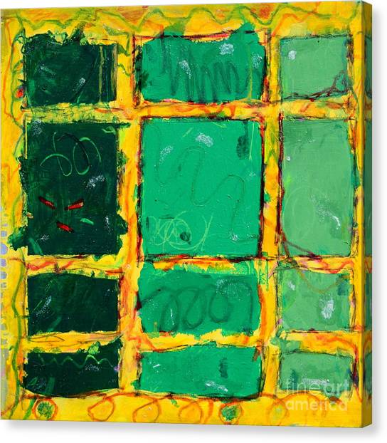 Green Windows Canvas Print by Kelly Athena