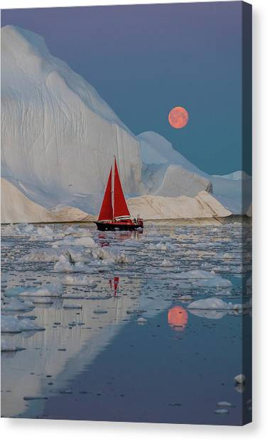 Maritime Canvas Print - Greenland Night by Marc Pelissier