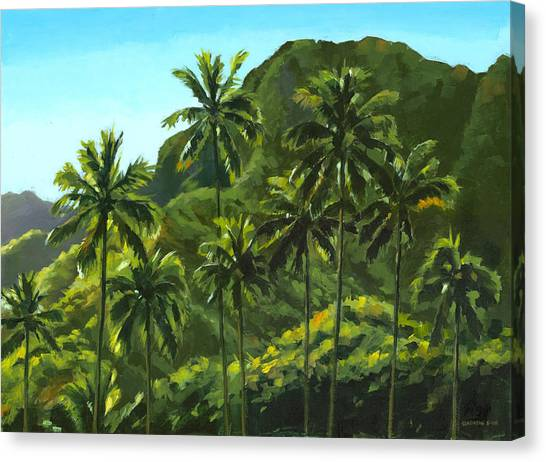 Trees Canvas Print - Greens Of Kahana by Douglas Simonson