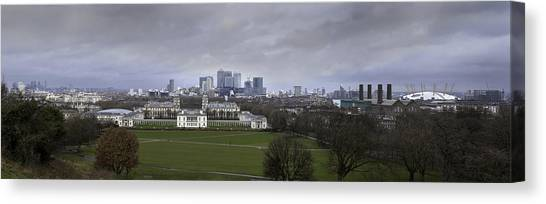 Canaries Canvas Print - Greenwich And The City by Nigel Jones