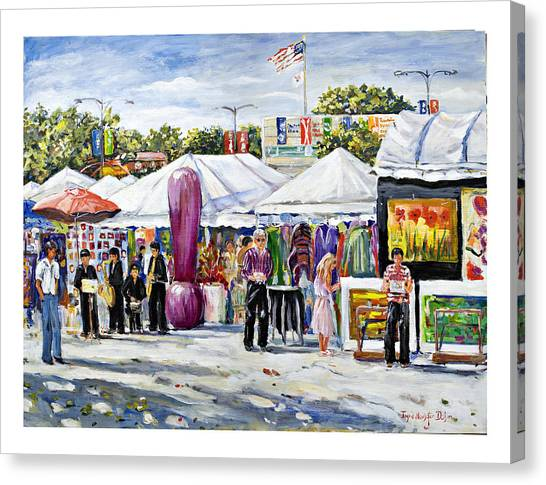 Greenwich Art Fair Canvas Print