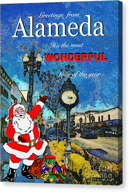 Alameda Christmas Greeting Canvas Print