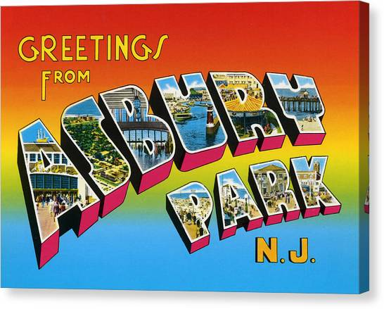 Greetings From Asbury Park Nj Canvas Print