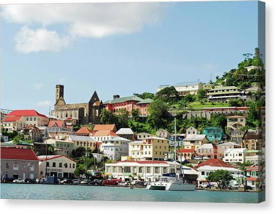Catamarans Canvas Print - Grenada, St George, Carenage, View by Anthony Asael