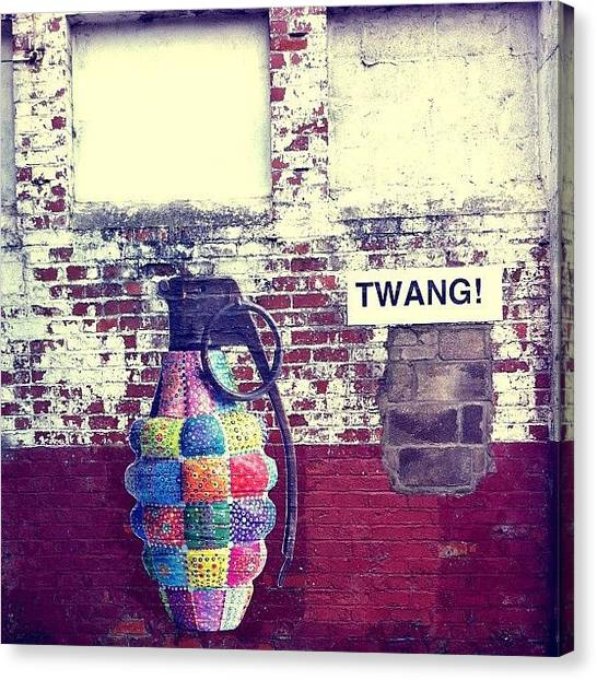 Grenades Canvas Print - Grenade #albanyrd #cardiff #art by Gareth Thompson
