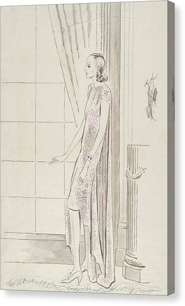 Greta Garbo By A Window Canvas Print by Cecil Beaton