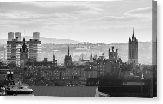 Grey City Canvas Print