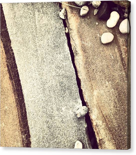 Abstract Canvas Print - Grey Stone Abstract by Christy Beckwith