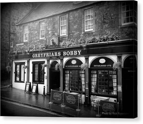 Greyfriars Bobby In Edinburgh Scotland  Canvas Print