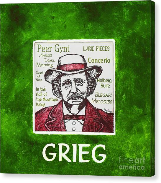 Grieg Canvas Print by Paul Helm
