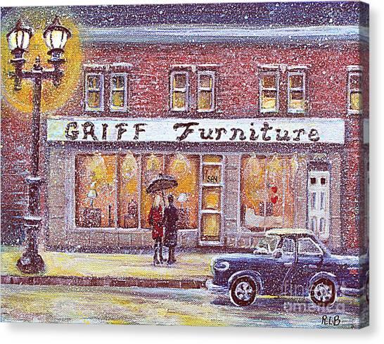 Griff Valentines' Birthday Canvas Print