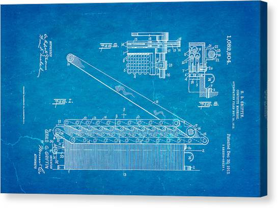 Griffin confetti maker patent art 1913 blueprint photograph by ian monk griffin confetti maker patent art 1913 blueprint canvas print by ian monk malvernweather Gallery