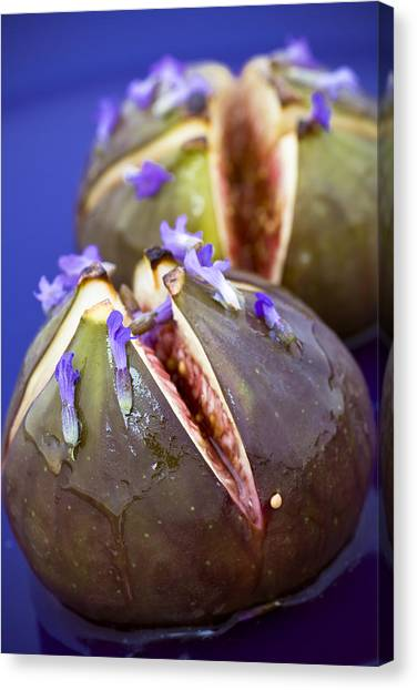 Arabian Desert Canvas Print - Grilled Figs With Lavender Honey by Frank Tschakert