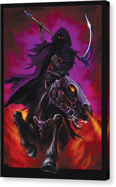 Axes Canvas Print - Grim Rider by Garry Walton