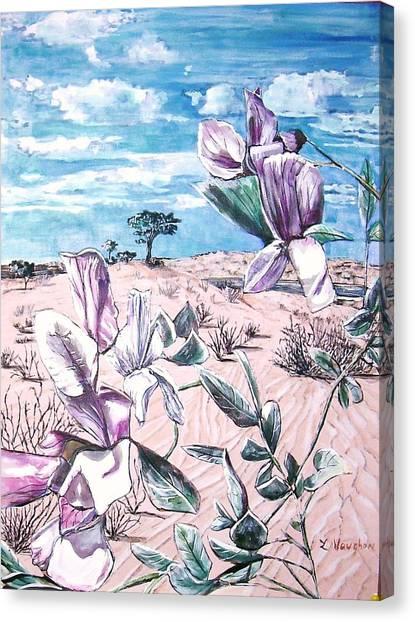 Grimes Vetching Canvas Print by Linda Vaughon