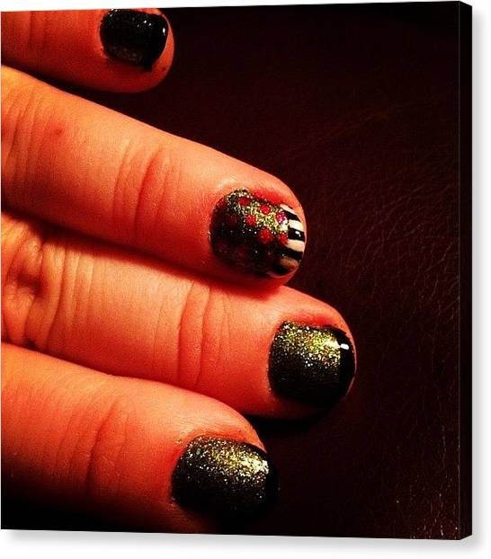 Grinch Canvas Print - Grinchy Nails #grinch #drseuss by Danielle White