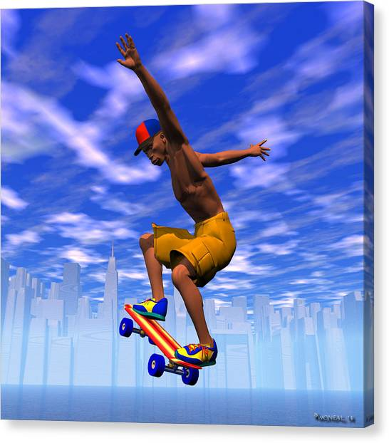 Grinding On The Air Canvas Print