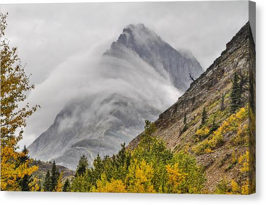 Grinnell Cloud Wrap Canvas Print