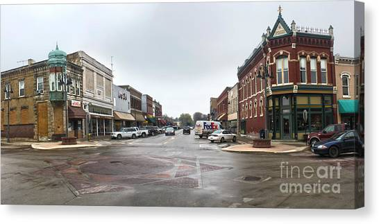 Grinnell Iowa - Downtown - 05 Canvas Print