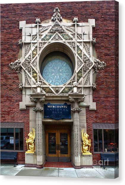 Grinnell Iowa - Louis Sullivan - Jewel Box Bank - 05 Canvas Print