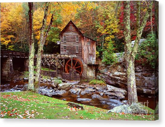 Grist Mill In Babcock St. Park Canvas Print