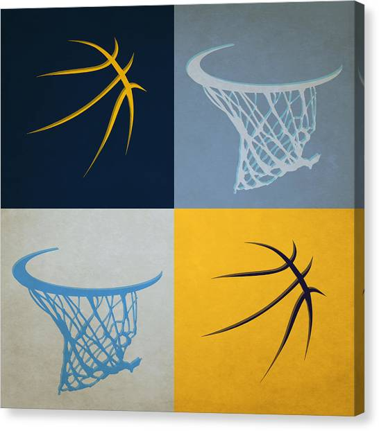 Memphis Grizzlies Canvas Print - Grizzlies Ball And Hoop by Joe Hamilton